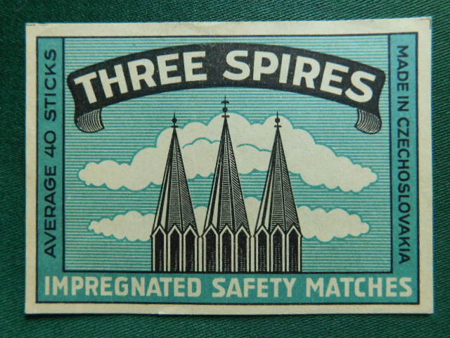 č.k. - B - 533 - Three Spires  - 1918 - 1938  ( Solo Czechoslovak United Match a Chemical Works LTD.Prague)