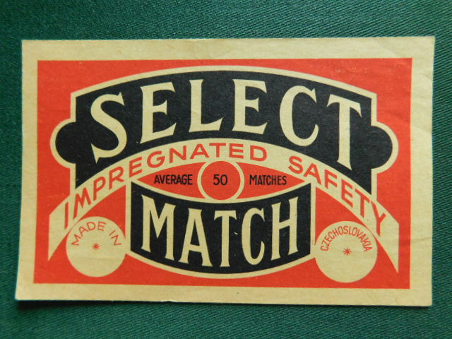 č.k. - B - 518 a - Select  - 1918 - 1938  ( Solo Czechoslovak United Match a Chemical Works LTD.Prague)