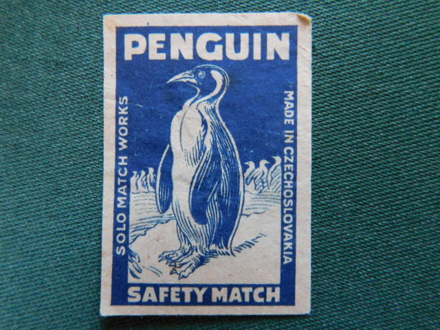 č.k. - 345  - Penguin  - 1918 - 1938  ( Solo Czechoslovak United Match a Chemical Works LTD.Prague)