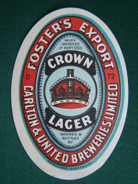 Foster´s Export - Crown Lager - Carlton & United Breweries Limited - Melbourne Australia