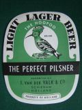 Light langer Beer - The Hoopoo Brand,The Perfect Pilsner,Exported By - J.Van Der Valk & Co - Schiedam Holland